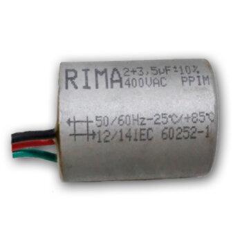 Capacitor de Partida Ventilador de Teto 3Vel 3fios 05,5uf (02,0 + 03,5 = 05,5uf) 250VAC CAP005,5