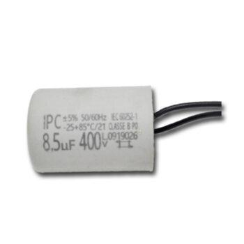 Capacitor para Ventilador de Teto Loren Sid M3 127v 08,5uF 400Vac 2Fios - Capacitor para Ventilador Tron 127V