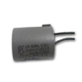 Capacitor de Partida para Portão Eletrônico - Capacitor de 15,0uF 2Fios 250VAC - Capacitor para Motor Elétrico - Motor de Portão de Elevação