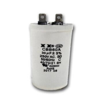 Capacitor de Partida para Climatizador Mega Brisa MB MC 127Volts 30,0uF 250VAC com Terminais - Capacitor para Motor Elétrico/Motor de Portão de Elevaç