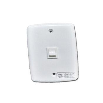 Chave para Ventilador de Teto e Exaustor - Modelo c/1-Tecla Liga/Desliga SEM Reversão / SEM Capacitor - Espelho 4x2