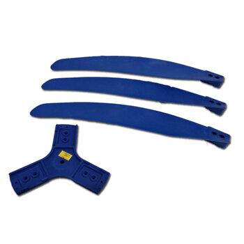 Helice para Ventilador Solaster 100cm - Kit c/3Pás - Encaixe Eixo 16,0mm c/Chaveta 0,5mm - Hélice Ventilador de Parede SOLASTER DAL-MORO GOAR Industri