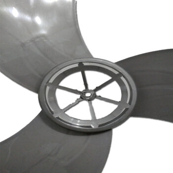 Hélice para Ventilador Ventisol 70cm Power 3Pás Preta - Modelo MX - Encaixe Eixo 8,0mm Ponta Redonda c/Trava Traseira - Fixar c/Porca Rosca Esquerda
