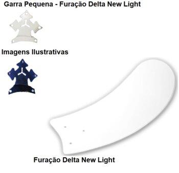 Pa Helice para Ventilador de Teto Venti-Delta New Ligh - MDF Arte Branca - p/Garra Pequena - New Montana, Magnes, Smart, etc... Vendida p/Unidade