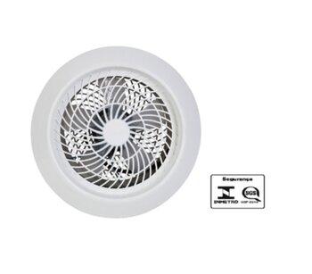 Exaustor de 25cm Ventisol Premium 127v Branco Grades Plásticas Brancas - Exaustor para Cozinha - Ventilador Axial Exaustor 25cm 127V Premium - OCP-004