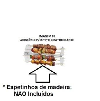 Acessório Giratório para Espeto Assador Arke Vitta Premium/Smart - Cromado - Assa até 8 Espetos de M