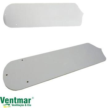 Pá Hélice para Ventilador De Teto TRON Antigo Garra Grande - cor Branca MDF Reta - Vendida p/Unidade - Medida L13 x C42cm