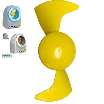 Hélice para Mata Inseto Turbine Mini MOEL 18,5cm 2Pas - Hélice para Ventilador do Mata Moscas MOEL Captur - HELMATAINSETOS