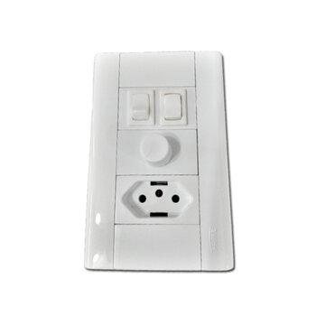 Chave para Ventilador de Teto Controle de Velocidade Dimer Rotativo 0400w c/Tomada - Chave Ventilador Arge - Chave Ventilador Loren-Sid e Outros...