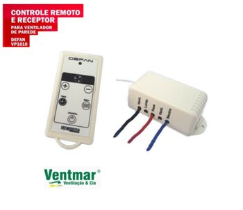 Controle Remoto para Ventilador de Parede Motor até 300Watts - Controle Remoto Universal VP1010 Devise Bivolts *Apenas p/Ventilador de Parede