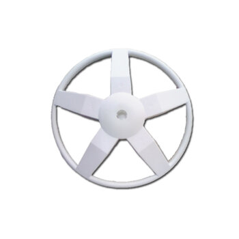 Suporte Base Redonda da Coluna do Ventilador Oscilante 50/60cm Venti-Delta Premium - Plastica Preta Redonda