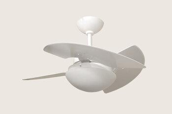 Ventilador de Teto Tron Aventador Stilo 127v08,5uF 130w Branco 3Pás MDF Brancas Luminária Vidro p/2-Lâmpadas Chave 3Velocidades - Linha Máximo