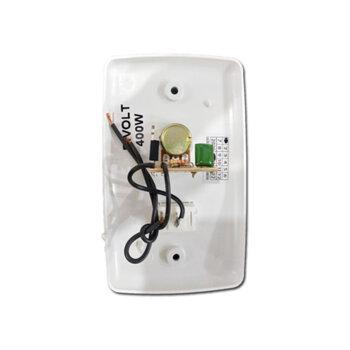 Chave para Ventilador de Parede Branca 1-Tecla Liga/Desliga Controle de Velocidade Rotativo Dimer 0400W Bivolts Sem Clique - c/Caixa Sobrepor