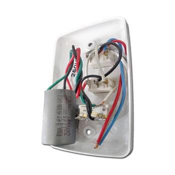 Chave para Ventilador de Teto Venti-Delta 3Velocidades 127v10,0uF 3+7mf - Chave Original - Ventilador Venti-Delta Lunik Efyx Loren Sid RioPreLustres