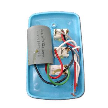 Chave para Ventilador de Teto 3Velocidades 127v10,0uF 4+6mF AZUL - Ventilador RioPreLustres Loren Sid Venti-Delta Arge Motor Antigo