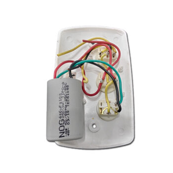 Chave para Ventilador de Teto RioPreLustres 3Velocidades 127V10,0uF 4+6mF BRANCA Teclas Redondas - Ventilador Loren Sid Venti-Delta Arge *SALDÃO