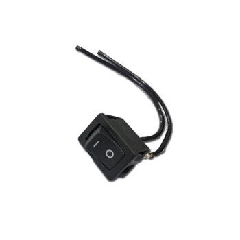 Tecla para Luz em Chave de Ventilador de Teto - Tecla Preta para Ligar Desligar Luz/Lâmpada - Vendida p/Unidade