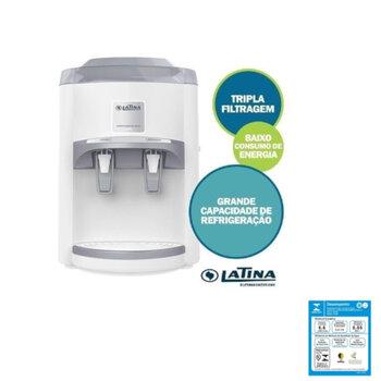 Filtro Purificador de Água Latina PA355 220V Branco - LTPA355A1S Refrigerado com Compressor + Maior Eficiência - Capacidade 4Litros