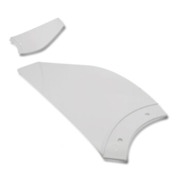 Pa Helice para Ventilador de Teto Aliseu Inspire Nano - Pá Plastica cor Branca - Pá Aliseu Nano Inspire Branca - *Vendida p/Unidade