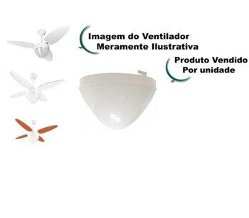 Globo Cúpula Plástica para Ventilador Ventisol Aires - Ventisol Lumiar - Ventisol Pétalos - Apenas o Globo Plástico