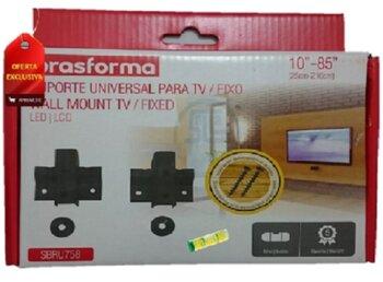 Suporte para TV de 10 a 85 Polegadas TV Plasma LCD LED OLed QLED 3D Smart 4K...- Brasforma Linha Pratica Até 40KG SBRU758 - Suporte Basculante/Móvel