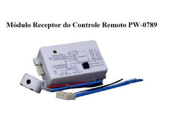 Módulo Receptor do Controle Remoto Universal Bivolts para Ventilador de Teto - Sinal Infravermelho - PW Eletrônica - *Apenas o Receptor