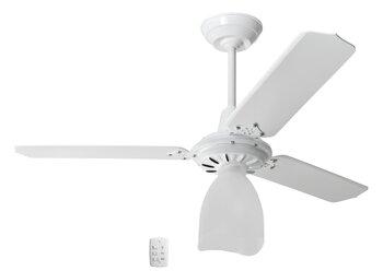 Ventilador de Teto Loren Sid Lumi Motor M2 Branco Luminária Lumi Plástica - 3Pás Brancas Chave 3Velocidades