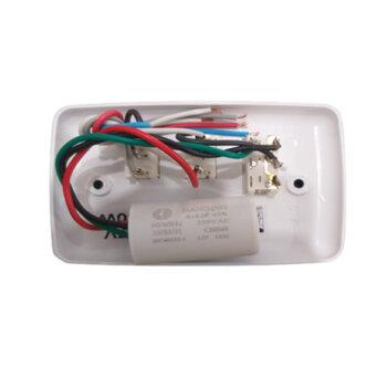 Chave para Ventilador de Teto Loren Sid 127V 3Vel Cap.3Fios 10,0uF (4,0+6,0mF) 1 Lampada - Chave Venti-Delta - Ventisol MX - RioPrelustres - Arge