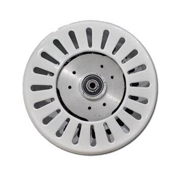 Motor para Ventilador de Teto Super Ciclone 127Volts cor Branca Modelo p/3Pás c/Rosca p/Luminária Eixo 12mm - *Usar c/Capacitor 10,0uF