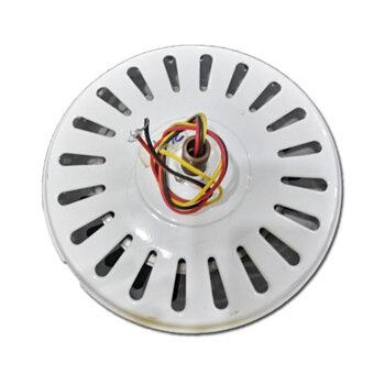 Motor para Ventilador de Teto Super Ciclone 220Volts cor Branca Modelo p/4Pás c/Rosca p/Luminária Eixo 12mm - *Usar c/Capacitor 03,0uF