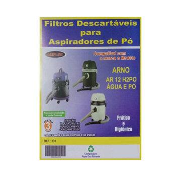 Saco para Aspirador de Pó e Água Arno AR 12 H2PO - Saco Descartável para Aspirador Arno Água e Pó - Kit c/3-Unidades