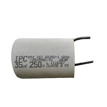 Capacitor de Partida para Portão Eletrônico - Capacitor 35,0uF 2Fios 250VAC - Capacitor para Motor Elétrico - Capacitor Para Motor de Portão de Elevaç