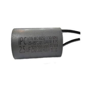 Capacitor para Ventilador de Teto Ventisol - Capacitor para ventilador Latina 2,5uF 2Fios VAC Variável de 250/380/400VAC