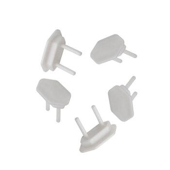 Protetor de Tomada Elétrica - Branco Plástico Encaixe Modelo Novo Padrão NBR - Kit c/5Unidades - Tampa Protetora de Tomada Evite Choques