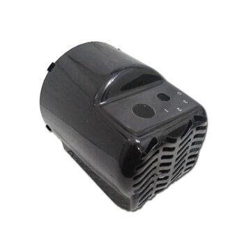 Capacete do Motor para Ventilador Ventisol 30/40/50cm Turbo 6Pas Preta - Capa Plastica 0376 G2 para Ventilador de Mesa, de Coluna ou Parede