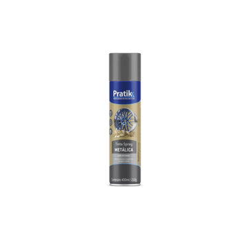 Tinta Spray Pratik Metálica Cromada 400ml