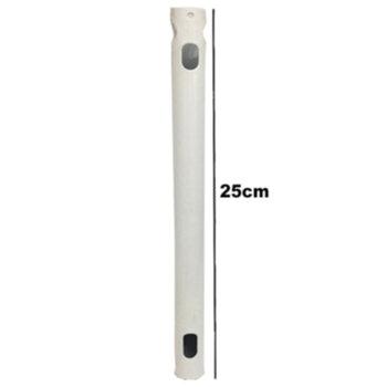 Haste para Fixar Ventilador Teto - Tamanho/Comprimento Padrao Venti-Delta 25cm - Cor Branca - Ferro diâmetro 5/8