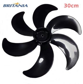 Hélice para Ventilador Britânia B30 Protect 30cm 6Pás Six Preta - Encaixe Meia Lua Dianteira Eixo 8,0mm - SEM Trava Traseira - Ventilador Mondial Prem