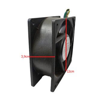 Exaustor Microventilador 11cm Bivolts - Cooler Ventisilva Axial E11 NYCD - Carcaça de Nylon COOLER 11CM 120X120X39