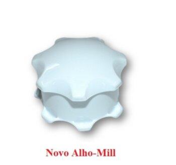 Amassador de Alho Manual Novo Alho Mill Original Branco - Triturador De Alho Novo Alho-Mill Manual - *Produto Original