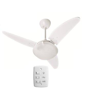 Ventilador de Teto Volare Ventax 127v10,5uF - Chave 3 Velocidades - Branco 3 Pás Plásticas - Ventila