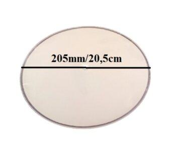 Globo Vidro Central da Luminária VALÊNCIA Fosco com Borda em Cristal - *Apenas o Vidro Central 205mm Furo 10mm
