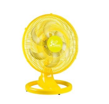 Ventilador de Mesa 50cm Venti-Delta Premium Bivolts 170w - Amarelo Grade Plástica Amarela - Hélice 6Pás - Ventilador para Mesa ou Parede
