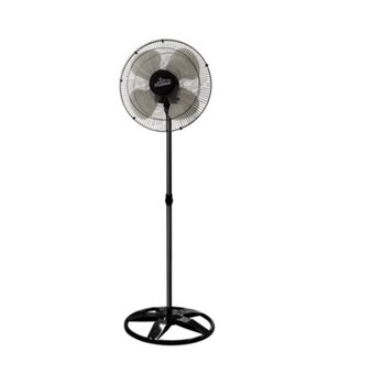 Ventilador de Coluna 50cm Venti-Delta Bivolts 170w Preto Hélice 4Pás Grades Metal Pretas Chave Controle de Velocidade - Oscilante Delta Premium