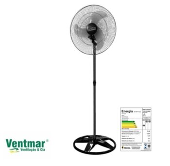 Ventilador De Coluna 60cm Venti-Delta Premium Bivolts 170w Preto/Hélice 3Pás Transparentes