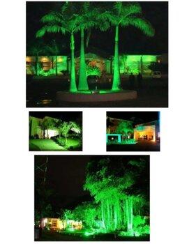 Luminária Projetor de LED10W Bivolts 700Lm Luz Verde - Ourolux-3248