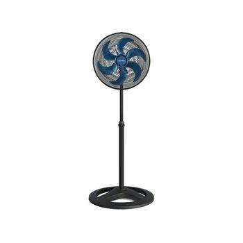 Ventilador de Coluna 40cm Ventisol Turbo 6Pás 127v 80w Preto Hélice Azul - Grades Plásticas  - Ventilador Turbo 6P Oscilante Premium