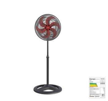 Ventilador De Coluna 40cm Ventisol Turbo 6Pás 127v05uF 80w Preto/Hélice Vermelha