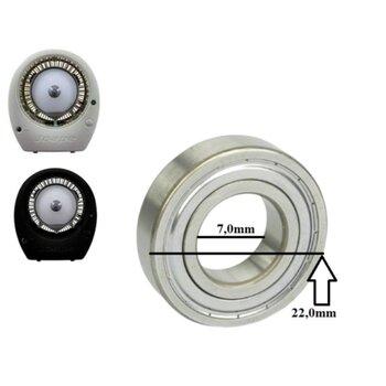 Rolamento para Climatizador Joape BOB - Encaixe em Eixo 7,0mm - Diâmetro Externo 22,0mm - Rolamento 0627ZZ 2a Linha