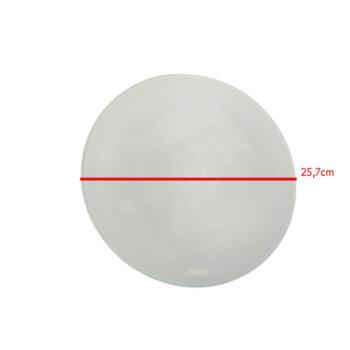 Globo Cúpula Vidro para Ventilador SPIRIT ZAYT VT02 - Vidro Incolor/Fosco Diâmetro Externo 26cm / 260mm